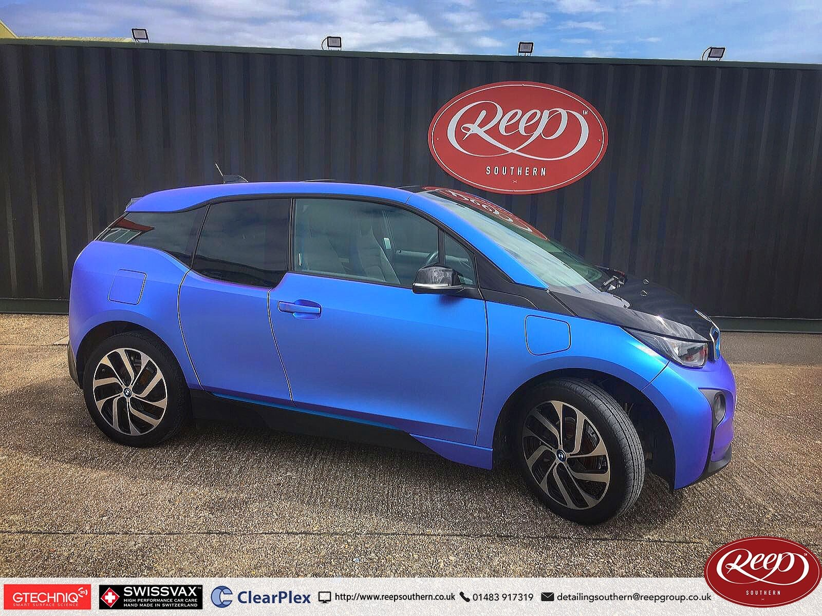 Bmw I3 Colour Change Full Vehicle Wrap Reep Southern