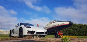 Porsche Cayman 718S Airplane