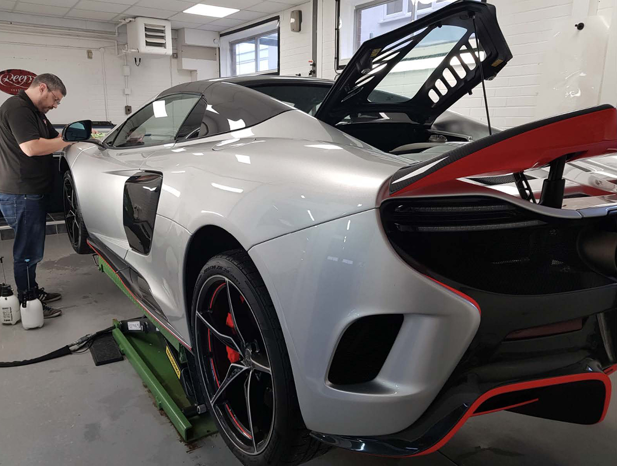 McLaren Paint Protection Film Installation