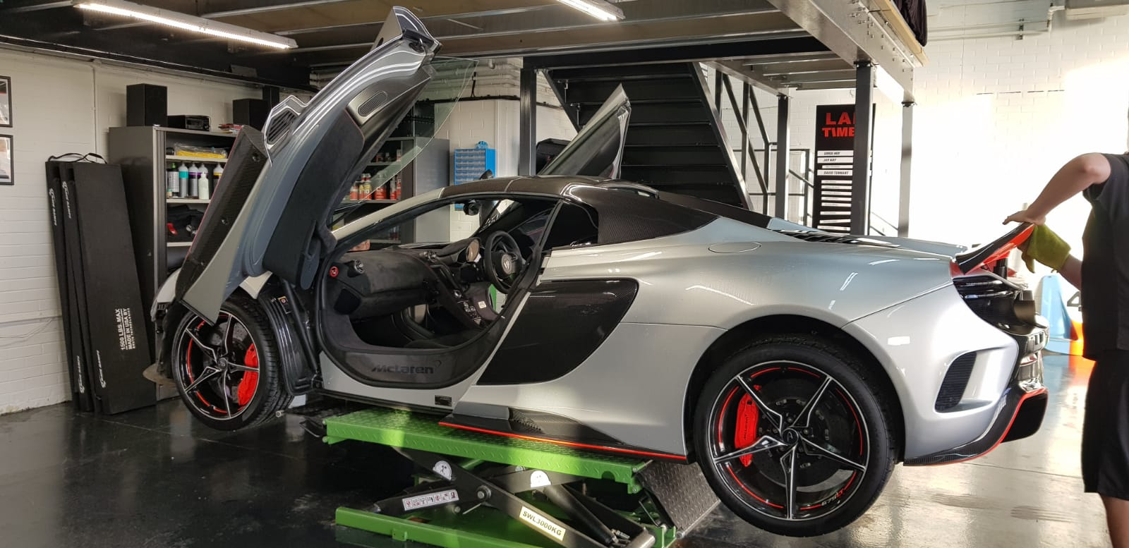 Istalling Paint Protection Film on a McLaren 675LT