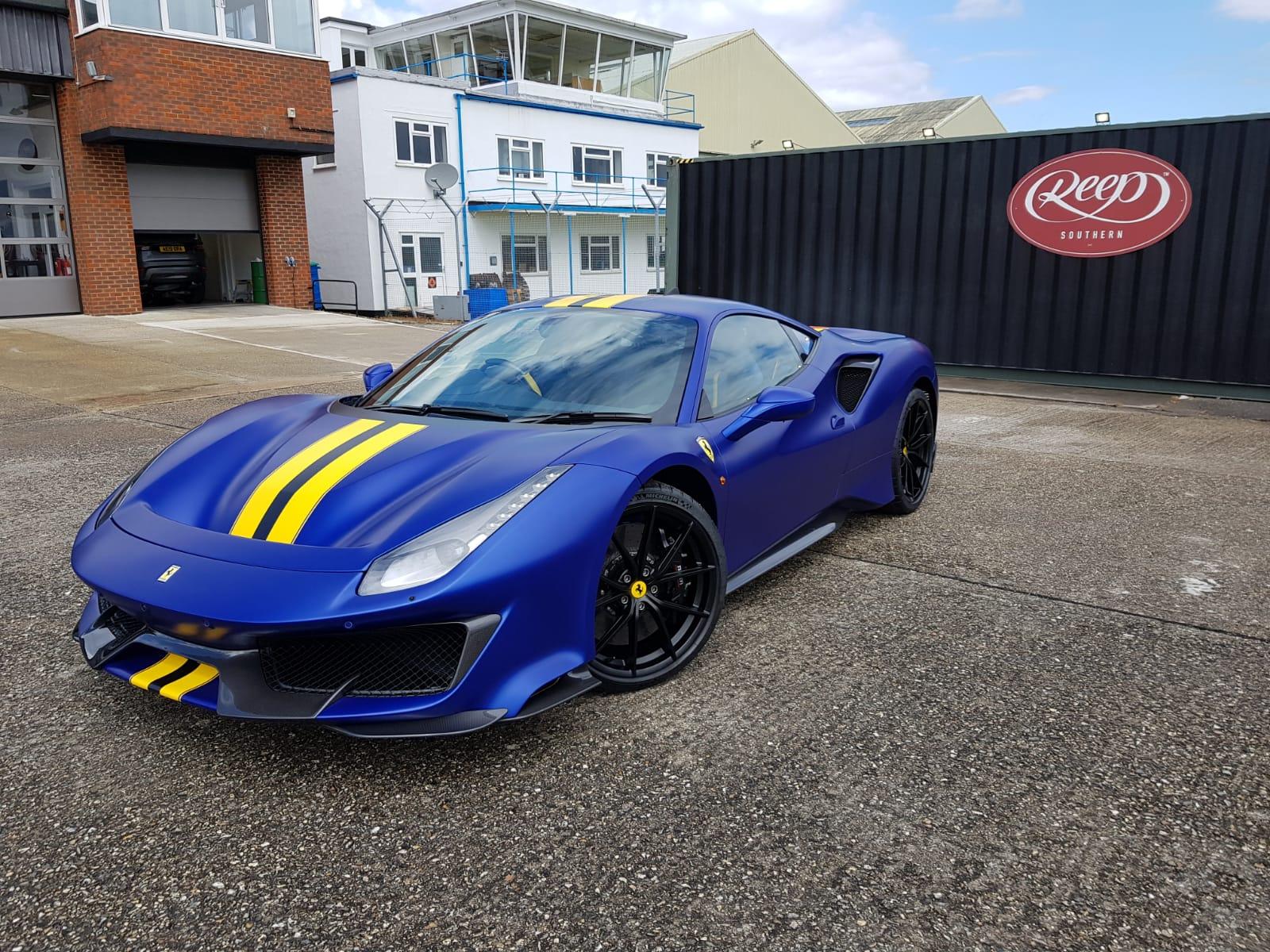 Elettrico Blue Ferrari 488 Pista