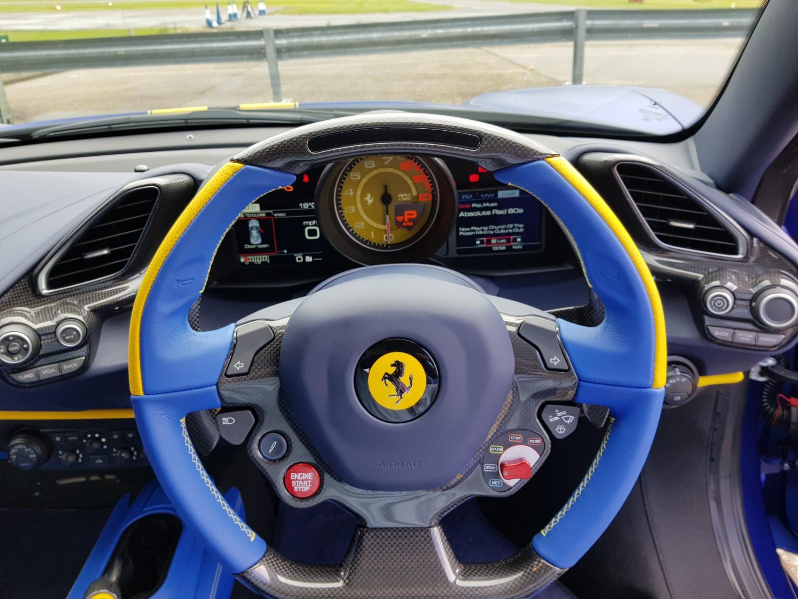 Ferrari Blue Interior