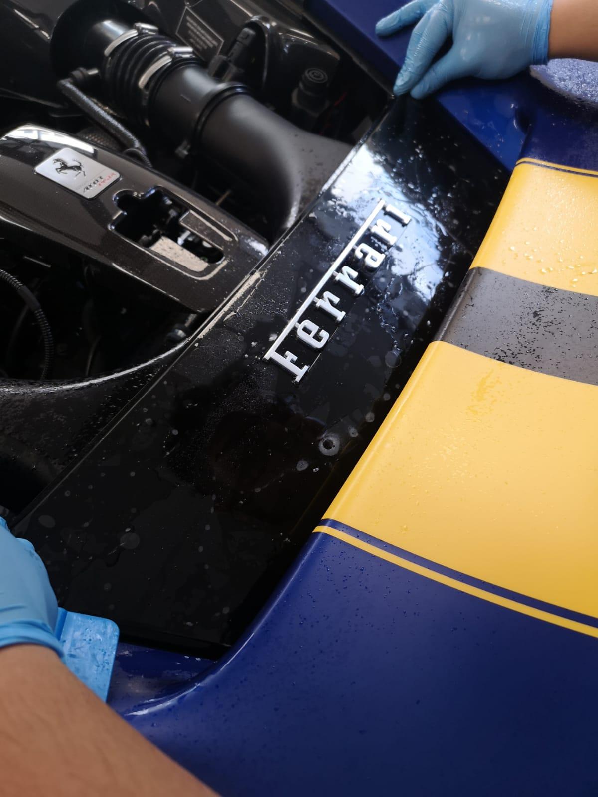 Installing PPF on a Ferrari 488 Pista