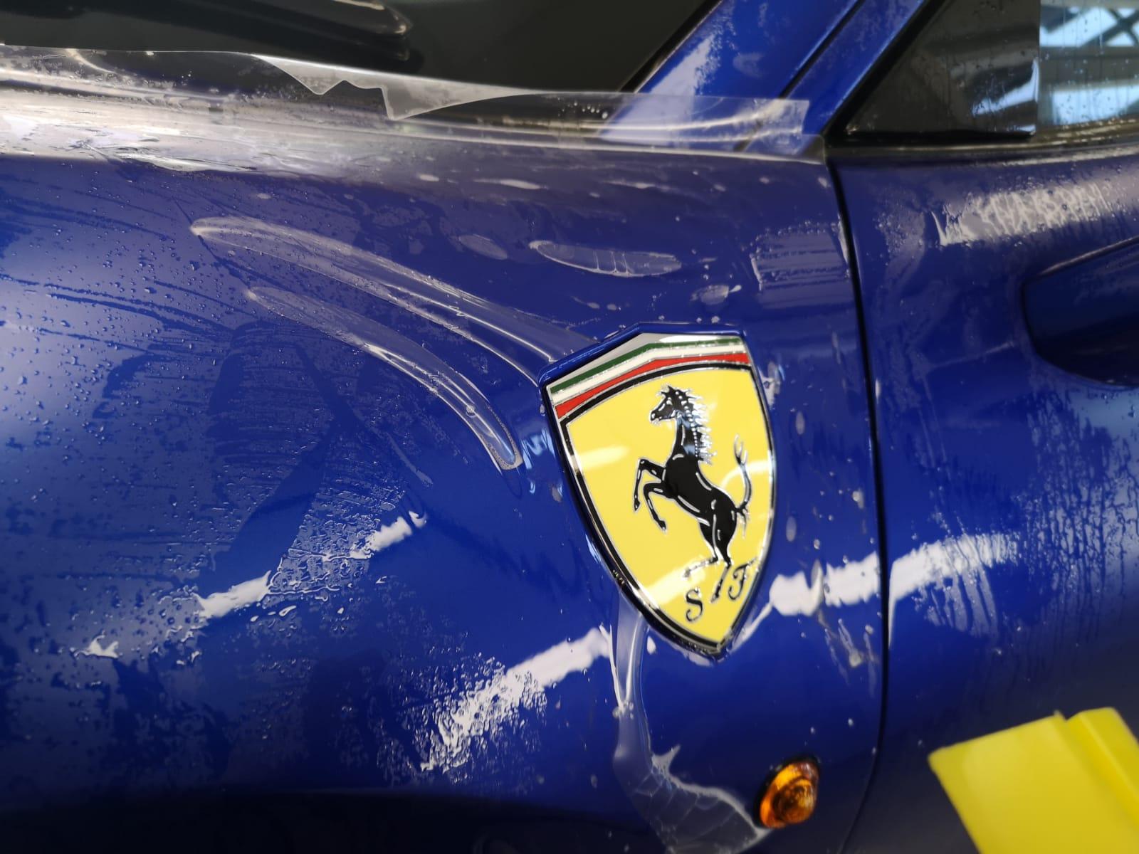 PPF Installation Ferrari