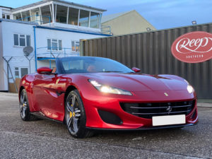 Ferrari-with-Gtechniq-Crystal-Serum-Applied-300x225