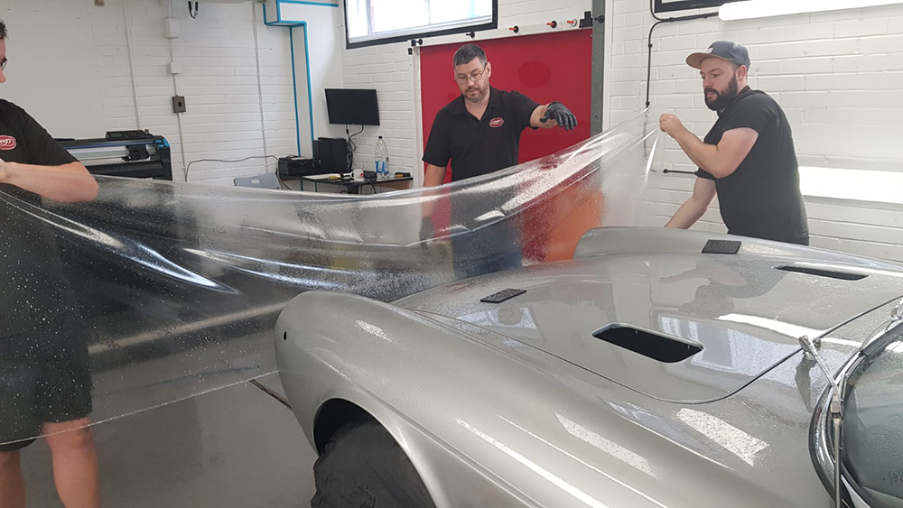 Installing Paint Protection Film on Ferrari 365 GTC