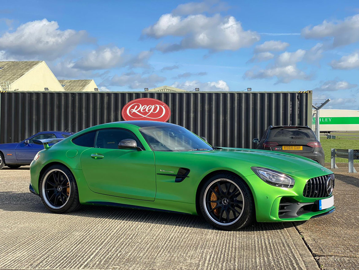 Mercedes AMG GTR Satin Car Wrap